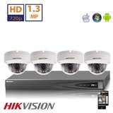 Hikvision HD 2 MP camerasysteem met 4x IP Dome Camera_