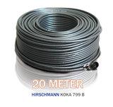 20 meter coax Hirschmann Koka 799 zwart met 1 x PCT connector_