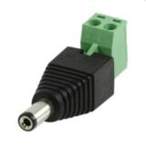DC male Connector (dc plug met kroonsteenaansluiting mannelijk)_