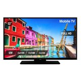 Nikkei NLD22FMBK 22inch Mobile Full HD LED TV 12volt aansluting Ziggo/M7 Fastscan/Joyne_