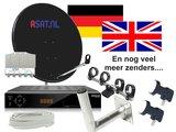 Compleet schotelset voor Duits en Engelse zenders_
