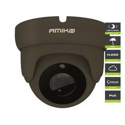 Amiko D20M500B Dark Grey POE Full HD 1080P 5MP Dome Camera