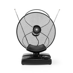 HDTV-Antenne voor Binnen | 0 - 25 km | Versterking 30 - 36 dB | FM / VHF / UHF | Zwart