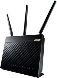 ASUS RT-AC68U draadloze router Dual-band (2.4 GHz / 5 GHz) Gigabit Ethernet Zwart