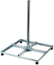 Blueqon Tegelvoet / Balkon standaard 4 x 30x30 cm Demontabel met buis lengte 75 of 150 cm