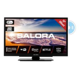 "Salora 24"" Smart Travel TV - 12/230 Volt - Wifi - DVD"