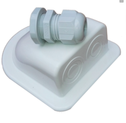 NDS kabel wit dakdoorvoer tbv Zonnepaneel PST met wartel