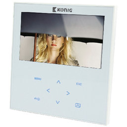 Video-deurintercom met luidspreker en microfoon
