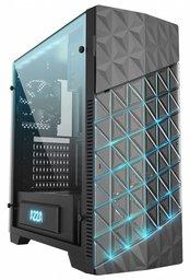 Case Azza Onyx Game MidiTower / Glass/EVA light/USB3/ Black