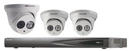 Hikvision Full HD 4.0 MP camerasysteem met 3x IP Dome Camera