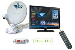 "Teleco Flatsat Elegance SMART 65cm+TH2/19""LED/DVD"