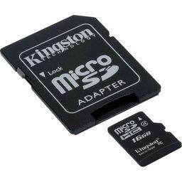 Kingston Technology SDC4/16GB flashgeheugen MicroSDHC Klasse 4 Flash