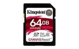 Kingston Technology SD Canvas React flashgeheugen 64 GB SDXC Klasse 10 UHS-I