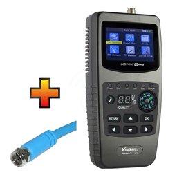Xsarius Satmeter HD Easy + GRATIS coaxkabel 1,5 m t.w.v. € 8,95