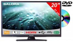 """Salora 20"""" LED 9109 DVB C/T/S2 DVD HDr 12V M7 Fastscan Joyne Ready"""