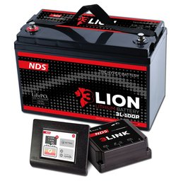 NDS 3LIONSYSTEM Lithium Accu 12V-150Ah + 3LINK 150A 3L-150-P
