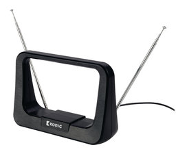 Binnen DVB-T/T2 - DAB+ Antenne 7 dB FM / VHF / UHF