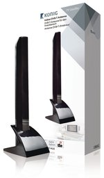 Binnen DVB-T/T2 Antenne 15 dB VHF / UHF