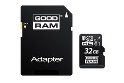 Goodram Micro SD + Adapter 32GB Class10 UHS I