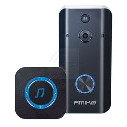 Amiko Smart HD Camera WiFi Deurbel Inclusief Chime (deurbelgong) en 16GB MicroSD
