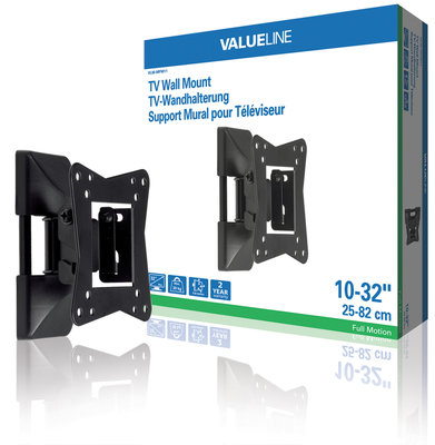 "tv wall mount full motion 1-way 10-32"" / 25-82 cm 30 kg"