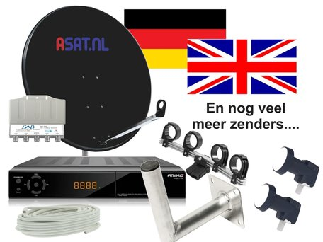 Compleet schotelset voor Duits en Engelse zenders