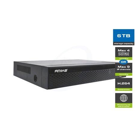 Amiko Home XVR-400 - 4A/9IP CH HD - FULL HD 1080P