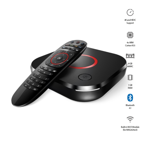 MAG424 W3 IPTV/OTT ontvanger - 4K&HEVC - Linux OS