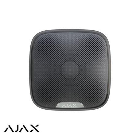 Ajax StreetSiren zwart draadloze buitensirene met LED