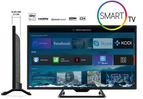 Telesystem Smart TV SLIM met Android 24 inch DVB-T2/S2 HEVC