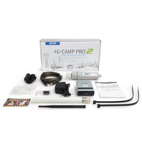 Alfa Network 4G-Camp Pro2 Set Tube U4G Antenne + R36A Router EUv1