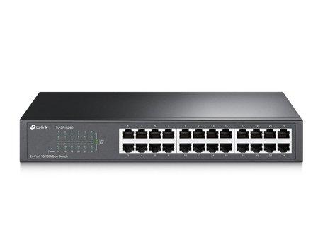 TP-LINK TL-SF1024D netwerk-switch Fast Ethernet (10/100) Zwart / RETURNED