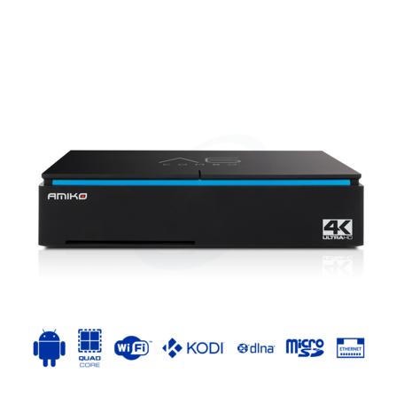 Amiko A6 COMBO - 4K digitale satelliet en T2 terrestrische / kabelontvanger - Android 7.1 OS
