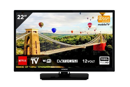 Hitachi 22 inch FHD LED Tv Smart/WiFi mobile 12volt