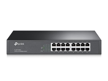 TP-LINK TL-SF1016DS netwerk-switch Fast Ethernet (10/100) Zw / REFURB