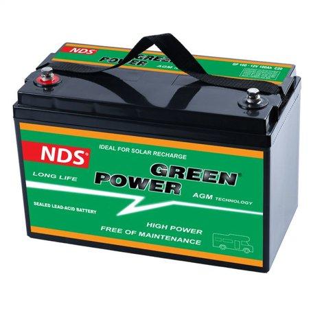 NDS GREENPOWER Service Accu AGM 12V 100Ah