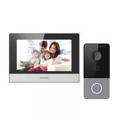 Hikvision IP Video intercom kit, 1 drukknop, 2 MP HD video, 7