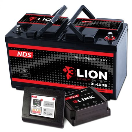 NDS 3LIONSYSTEM Lithium Accu 12V-100Ah + 3LINK 100A Ducato