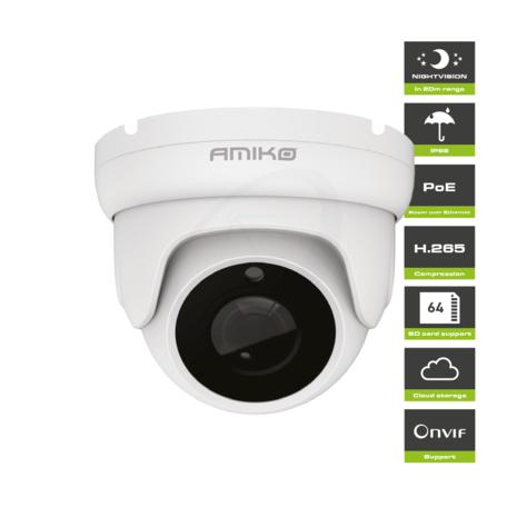 Amiko D20M530 AHD - Full HD 1080P - 5MP - Dome Camera