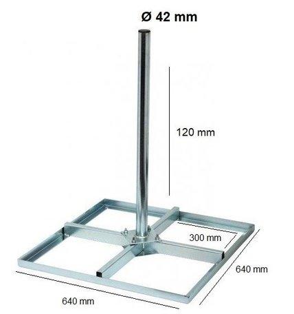 Tegelvoet 30x30 cm met buis lengte 1.25 m