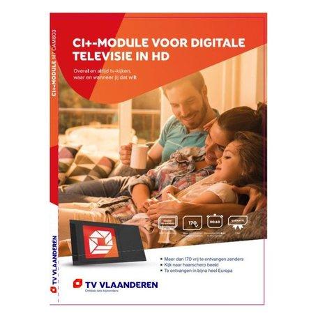M7 TVV CAM803 CI+ Module + Smartcard TVVlaanderen