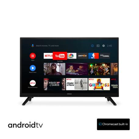 Hitachi 24HE2202 24 inch 61cm Smart AndroidTV Wifi Bluetooth HD LED DVB-S2/C/T2 - 12V en 220V - Chromecast ingebouwd
