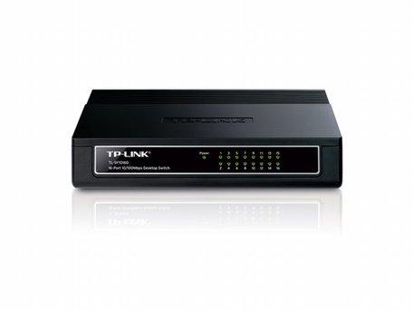 TP-LINK TL-SF1016D Unmanaged Fast Ethernet (10/100) Wit