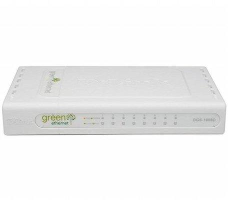 D-Link DGS-1008D/E netwerk-switch Unmanaged L2 Gigabit Ethernet (10/100/1000) Zwart