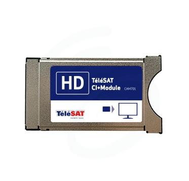 M7 TELESAT CAM-701 CI+ Module + Smartcard Telesat