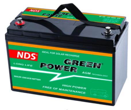 NDS GP 100 Service Accu AGM 12V 100Ah 330 * 171 * 220h