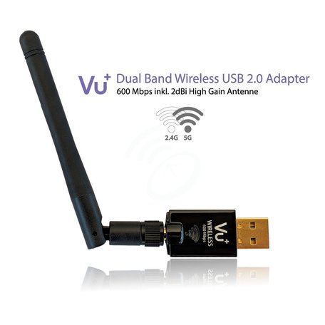 VU+ Dual Band 600Mbps Draadloze USB 2.0 adapter
