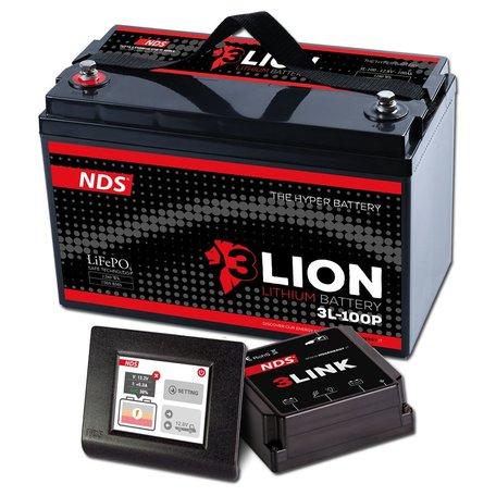 NDS 3LIONSYSTEM Lithium Accu 12V-100Ah + 3LINK 150A 3L-100P