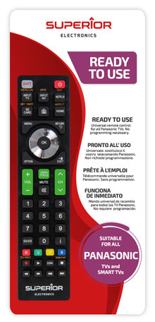 Universeel afstandsbediening voor alle Panasonic TVs
