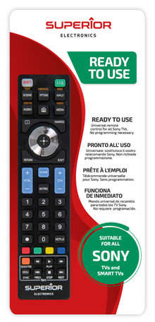 Universeel afstandsbediening voor alle Sony Smart Tvs